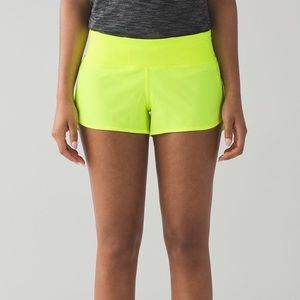 Lululemon Ray yellow speed short 4
